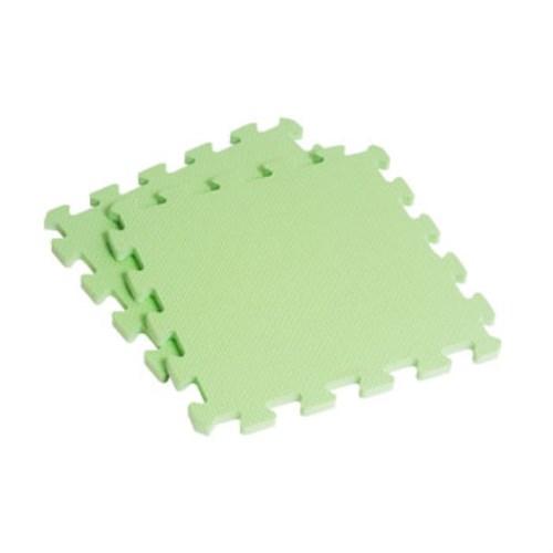 新生活家 EVA素面巧拼地墊32x32x1cm40入-果綠色