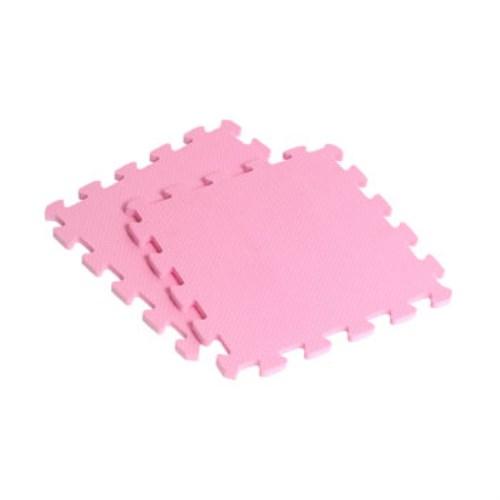新生活家 EVA素面巧拼地墊32x32x1cm40入-粉紅色