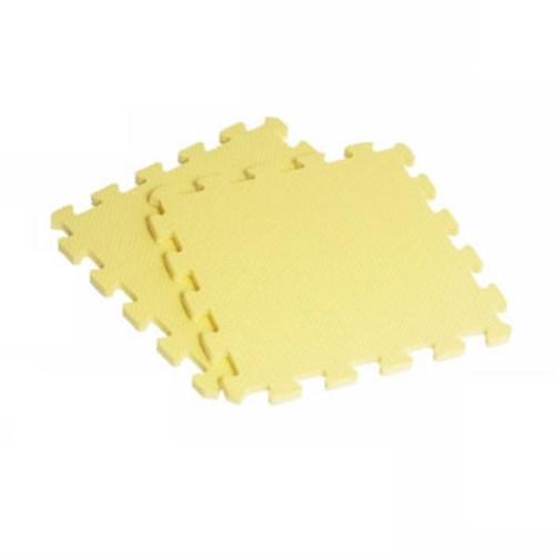 新生活家 EVA素面巧拼地墊32x32x1cm40入-黃色