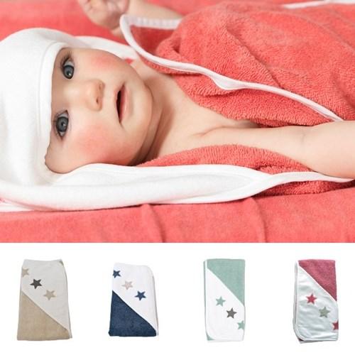 荷蘭 ISI mini 連帽包巾.浴巾 星星系列