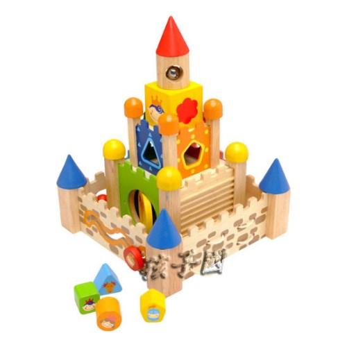 I'm toy泰國木製城堡積木 多功能12合一
