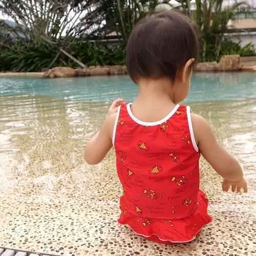 ImseVimse-可愛泳衣褲組(紅色小魚)