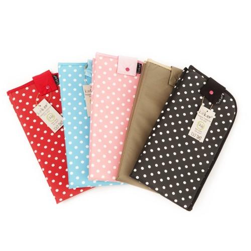 荷蘭 KipKep 攜帶型尿布&濕紙巾收納包-星星灰