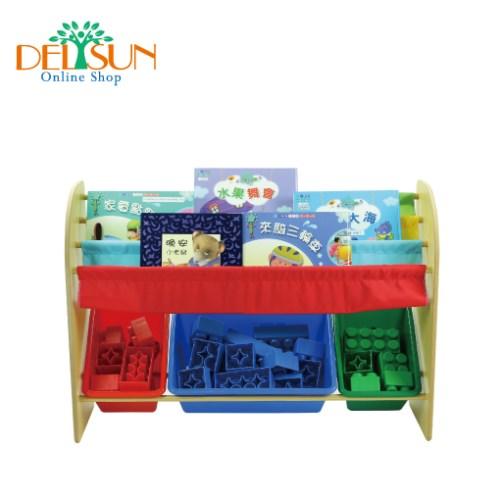 DELSUN  兒童書報玩具收納架-繽紛彩虹