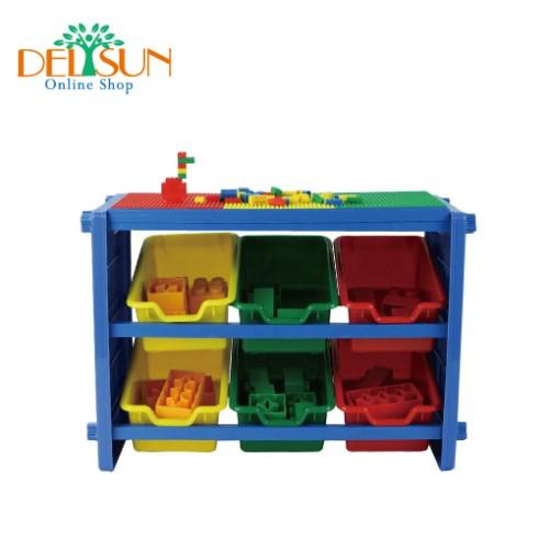 [DELSUN 1000] 兒童積木收納架 玩具收納 雜物收納 塑膠收納架 多功能 DIY 台灣製造 安檢