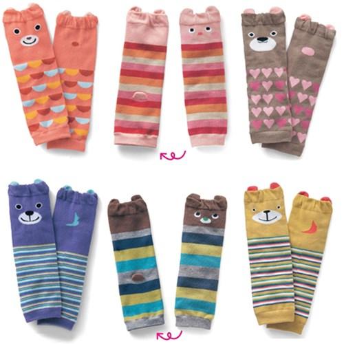 【三雙入】寶寶純棉保暖動物造型護膝襪套 學步襪-共六款