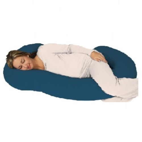 美國 Snoogle Leachco Chic Jersey Total Body Pillow 孕婦專用抱枕/托腹枕/孕婦枕/哺乳枕多用途 [Teal 土耳其藍]
