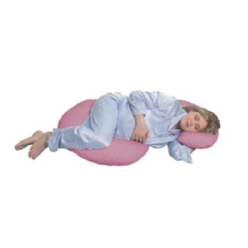 美國 Leachco Snoogle Original Total Body Pillow 孕婦專用抱枕/托腹枕/孕婦枕/哺乳枕多用途 [Mauve 桃紅色]