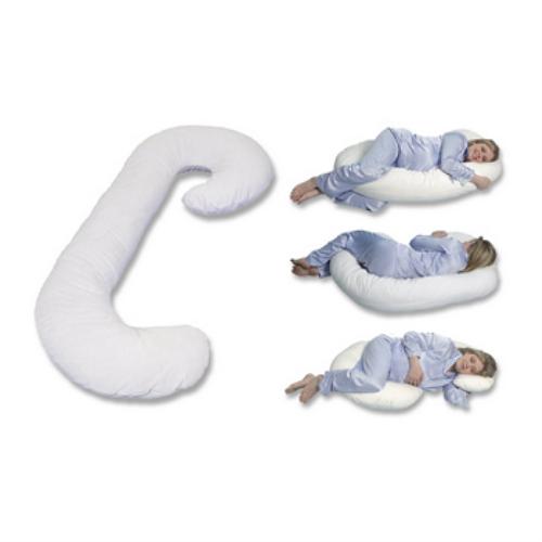 美國 Leachco Snoogle Original Total Body Pillow 孕婦專用抱枕/托腹枕/孕婦枕/哺乳枕多用途 [White 白色]