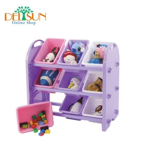 台灣製造-歐盟認證無毒 九格玩具收納架