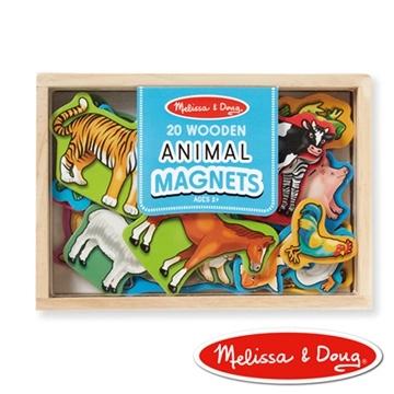 美國瑪莉莎 Melissa  Doug 動物木質磁鐵貼