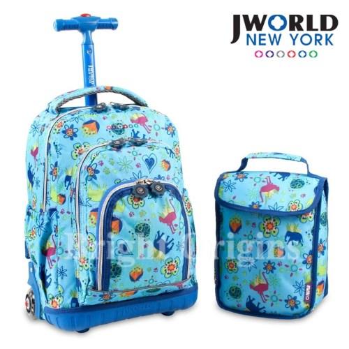 JWorld 拉桿後背兩用書包旅行箱(奇幻叢林)