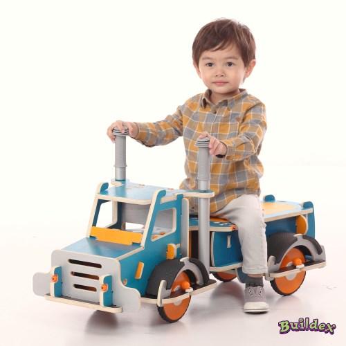 美國 Buildex 純木質騎乘車 (勁酷大卡車)