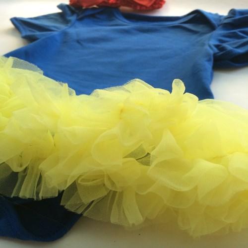 日安朵朵 女嬰雪紡蓬蓬裙連身衣 –白雪公主(短袖)