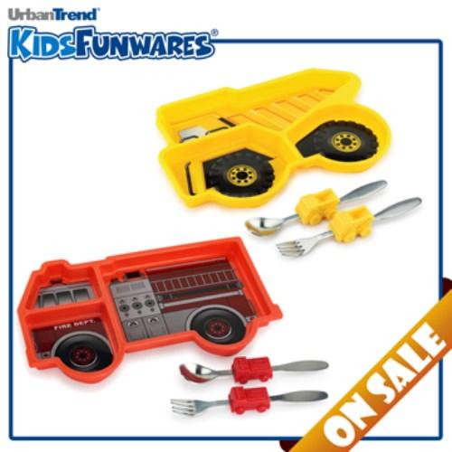 公司貨KIDSFUNWARES造型兒童餐盤組(超值二入組  多款組合選擇)