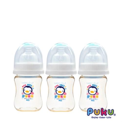 PUKU 實感寬口PES奶瓶-140ml(3支組)