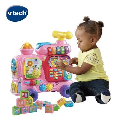 【Vtech】4合1智慧積木學習車(3色可選) ★幼童界喊聲最高 喜愛❤商品之一 ★功能性多 可探索可學習 ★