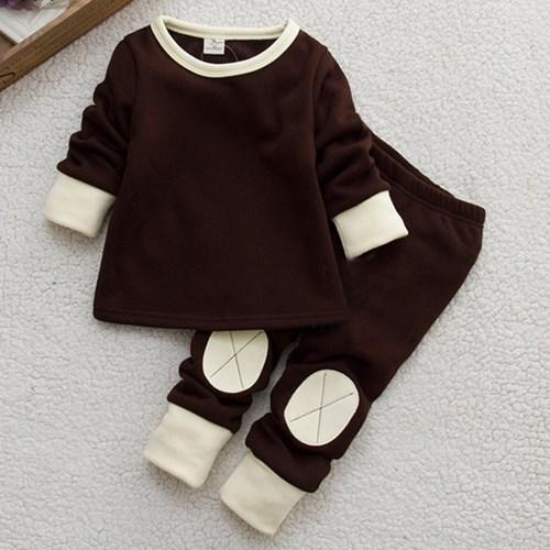 冬款加厚家居服 寶寶家居服男女可穿 衣+褲套裝
