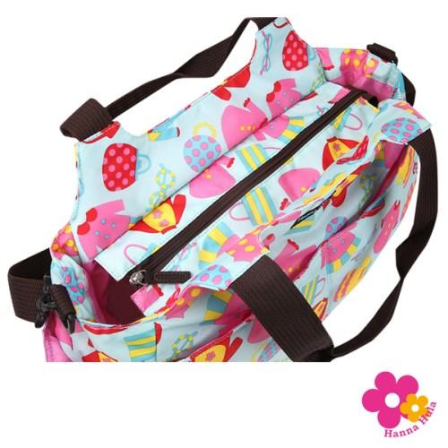 【日本Hanna Hula】棉花糖二用媽媽包空氣包(洋裝藍)