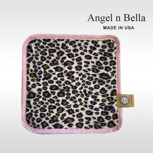 【美國製】Angel n Bella經典圖紋手帕-粉紅豹紋