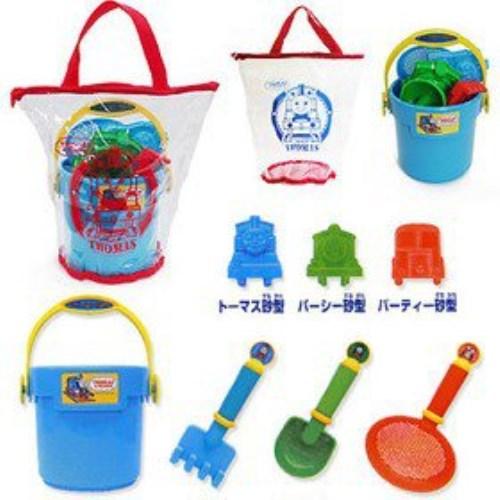 日本沙灘玩具超值組(湯瑪士小火車 TOMICA兩款)