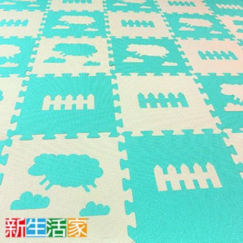 新生活家 小綿羊抗菌地墊附邊條(32入)