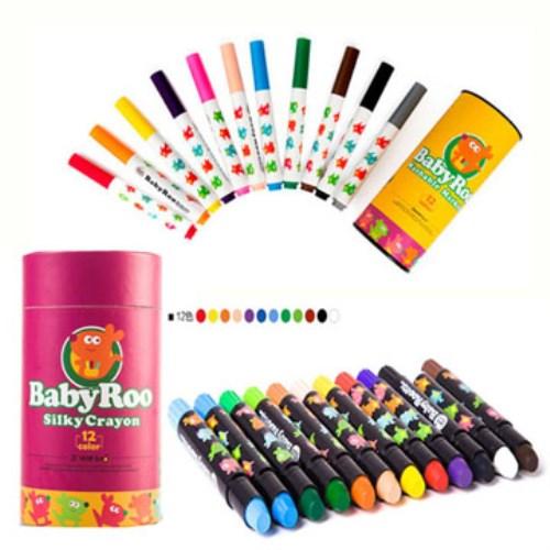西班牙 JOANMIRO 兒童可水洗彩色筆12色+兒童絲滑蠟筆12色