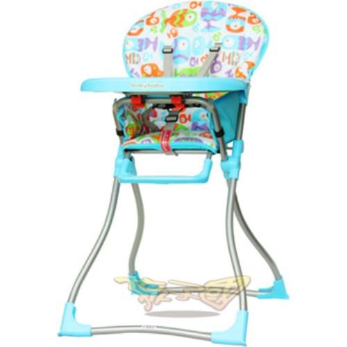 【Baby Babe】兒童高腳餐椅-天空藍