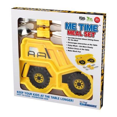 KIDSFUNWARES造型兒童餐盤組-工程車