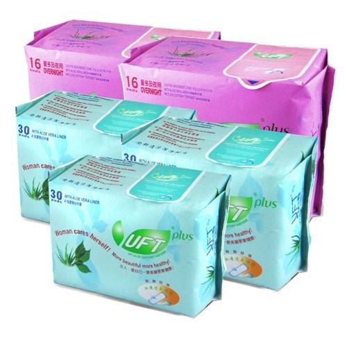 UFT蘆薈草本衛生棉--夜護綜合組 (2夜用+3護墊)