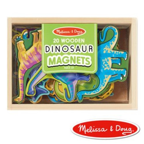 美國瑪莉莎 Melissa Doug 恐龍造型木質磁鐵貼