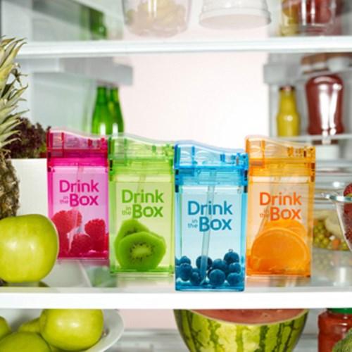 Drink in the box Tritan兒童運動吸管杯(大)-果凍藍