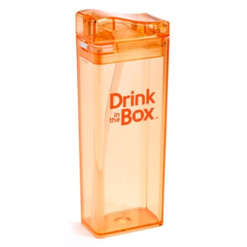Drink in the box Tritan兒童運動吸管杯(大)-果凍橘