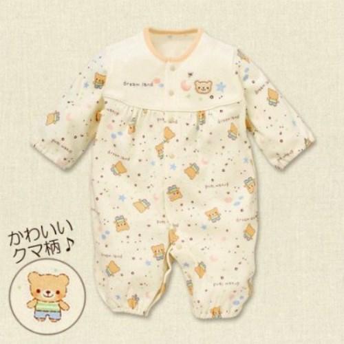 日本純棉可愛童趣圖案滿印連身衣(50-60)  寶寶衣特輯
