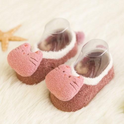 【買1送1】可愛卡通造型寶寶全棉保暖地板襪-共六款