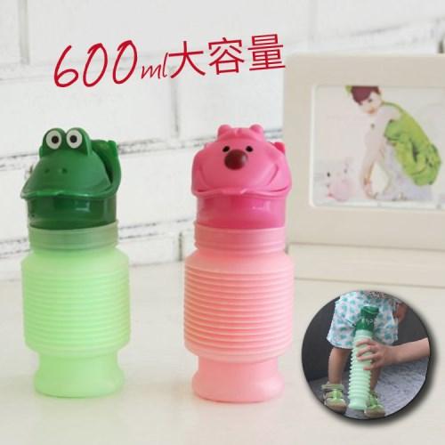 3入組  可擕式小便桶 男女孩通用  兒童尿桶 600MLx2+防漏餅乾盒x1