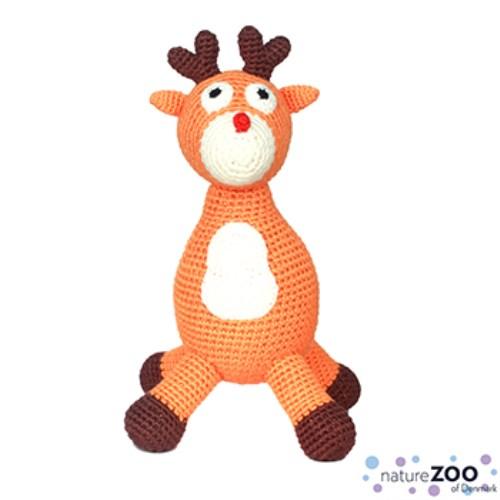 【丹麥natureZOO】丹麥動物園 竹纖維手工編織布偶 馴鹿