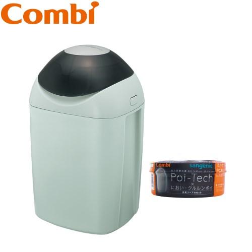 【Combi x Sangenic】Poi-Tech尿布處理器+專用抗菌膠膜捲1入組