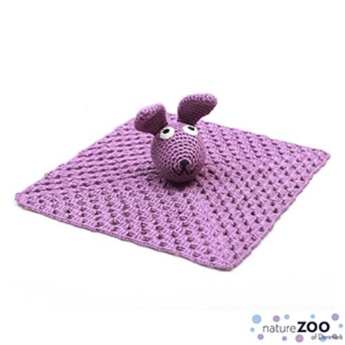 【丹麥natureZOO】丹麥動物園 竹纖維手工編織安撫巾 兔子