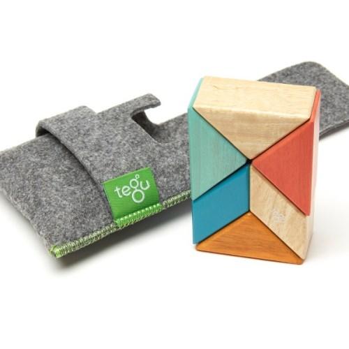 Tegu磁性積木 - 6件式口袋組 (日落系)