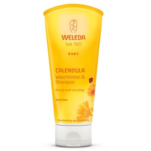 【WELEDA薇蕾德】金盞花寶貝洗髮沐浴乳-200 ml