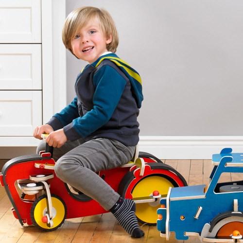 美國 Buildex 純木質騎乘車 (推土機)