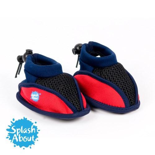 2017 新品上市《Splash About 潑寶》Splash Beach Shoes 寶寶專用海灘鞋 - 海軍藍紅