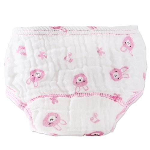 寶寶卡通印花紗布內褲 學習拉拉褲七層防水尿布褲【兩件入】