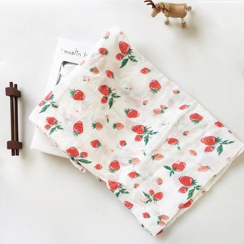 荷蘭Muslin tree嬰兒紗布包巾雙層手繪竹纖維禮盒組-兩入