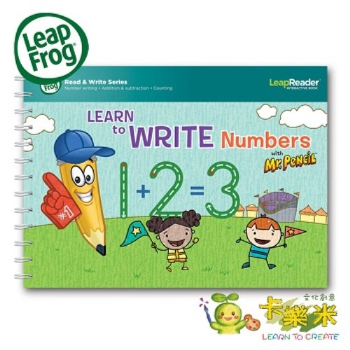 【LeapFrog】-全英電子閱讀筆套書-(學習寫數字鉛筆先生)