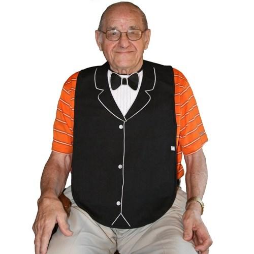 美國Frenchie MC 燕尾服 x 珍珠項鍊成人防水圍兜