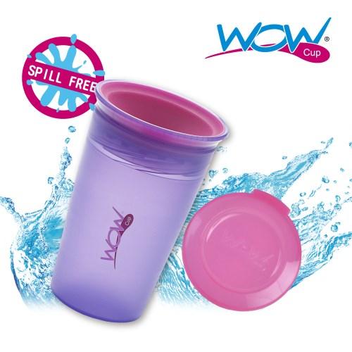 Wow Cup 360度透明喝水杯+蓋-紫