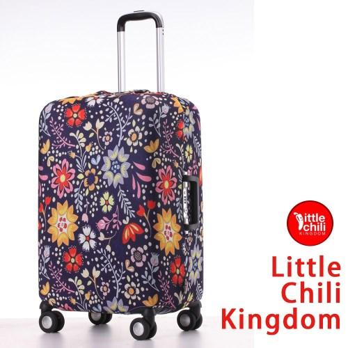 LittleChili行李箱套517-小花藍 S
