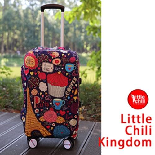 LittleChili行李箱套540-巴黎甜心 L